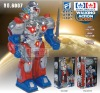 Walking B/O robot warrior toy with l voice light