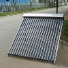 Pressurized vacuum tube heat u pipe solar collector