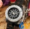 Luxury Carve Some shine Zircon jewelry Ceramic band women Wrist Watch LOVER DECENT GIFT +1box