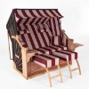 wicker roofed beach chair