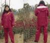 Antistatic reflective raincoat
