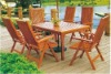 wooden outdoor set furniture