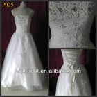 White lace beaded organza floor length vintage lace wedding dresses