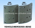 19581/19582 brake lining for Mercedes Benz