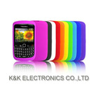Shenzhen plastic manufacturer provide silicone skin case for blackberry 8520