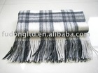 100% cashmere plaid wollen weaving blanket