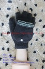 fashion knitted magic gloves with flap