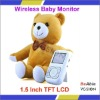 Bear-Shape Wireless Digital Baby Monitor Built-in Microphone For Audio Monitoring