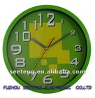 Hot selling green home decoration 10 inches plastic wall clock