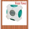 Green Water Power Electronic Digital Calender Alarm Clock 698W