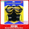 Twin cartridge chemical respirator/mask set