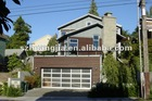 Glazed panoramic sectional garage door
