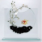 decorative clear acrylic desktop fish aquarium