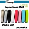Lepow Stone 3000 external battery for tablet pc / 3000mah portable power source / mobile phone power bank