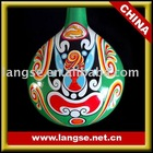 Chinese folk wood craft of painting ladle for home decoration