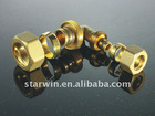 Brass screw(threaded) fitting elbow for water pipe