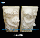 White Stone Interior&Garden Angel Wall Ornament