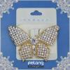 fashion butterfly brooch with rhinestone pearl