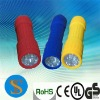 9 super bright white led plastic flashlight