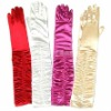 LONG RUCHED SATIN Opera Prom Evening GLOVES