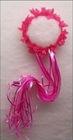 hot pink fairy ribbon hair flower halo/ fairy ribbon halo/Fairy Pixie Costume Rose Ribbon Flower Halo