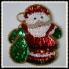 christmas santa sequins applique decoration