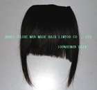 lowest price for top quality remy or non remy human hair fringe hair bangs