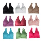 New Seamless Sports Bra Double Layer with Removal Pads