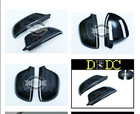 2009-2011 Real Carbon Fiber Side Door Mirror Cover Protecter Caps for Audi A4 B8