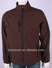 Men Performance woven softshell jacket WVP 5000 MVP 8000 TPU bonded with fleece