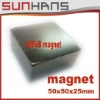 Direct Marketing Extremely powerful Neodymium NdFeB N50 50x50x25mm neodymium magnet Free shipping