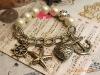 Euramerican Fashion vintage pearl heart sea bracelet jewelry