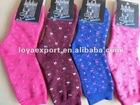 cheap women full terry stock socks/terry sock stocklots
