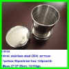 2012 The most popular stainless steel foldable travel folding cup