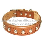 """16""""-22"""" Fit All Adjustable Buckle Leather Dog Collar"""