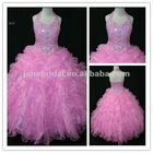 Halter Ball gown real sample flower girls party dresses
