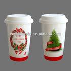 Christmas santa clause porcelain mug
