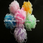 colorful loofah mesh bath ball