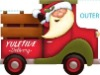 santa claus promotional products display