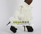 Classic rabbit fur leg warmers! Fashion design with quality rabbit fur. Best fur leg warmers for ladies