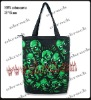 skull bag rock punk bag shopping sack