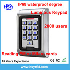 single door Access Control/RFID Access Control system with 2000 user and IP68 waterproof