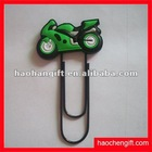 silicone car shape steel clip bookmark