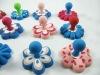 flower shape decorative pvc soft plastic magnetic hook