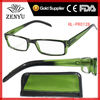 [Case Box]womens mens 2013 italy fashion plastic reading glasses with green frame to whlolesale promotion