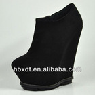2013 Hot trendy boots,women wedge suede ankle boots
