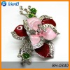 alloy oil metal flower brooch