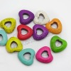Fashion howlite multi-color heart beads for jewelry bracelets making