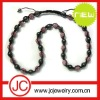 shamballa beaded necklace black