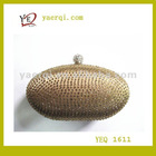 golden hard crystal clutch evening bags 2012 for women